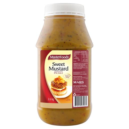 SWEET MUSTARD PICKLE RELISH 2.6KG