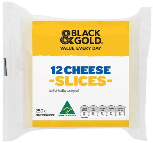 CHEESE INDIVIDUALLY WRAPPED SLICES 250GM