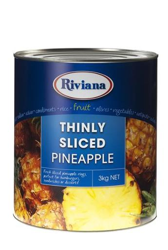 THINLY SLICED PINEAPPLE 3KG