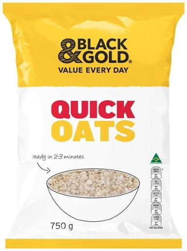 QUICK COOKING OATS 750GM
