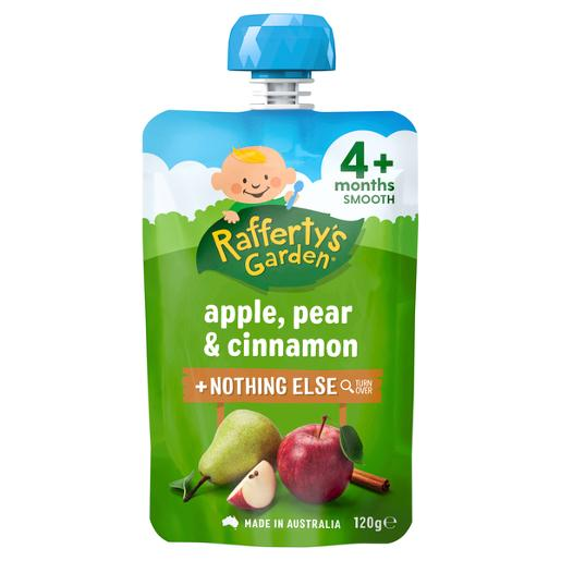 4 MONTHS+ APPLE PEAR AND CINNAMON BABY FOOD 120GM