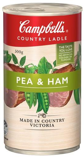 COUNTRY LADLE SOUP HOMESTYLE PEA AND HAM 500GM