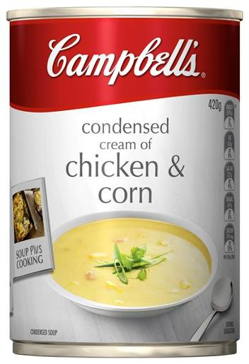 CONDENSED SOUP CHICKEN AND CORN 420GM