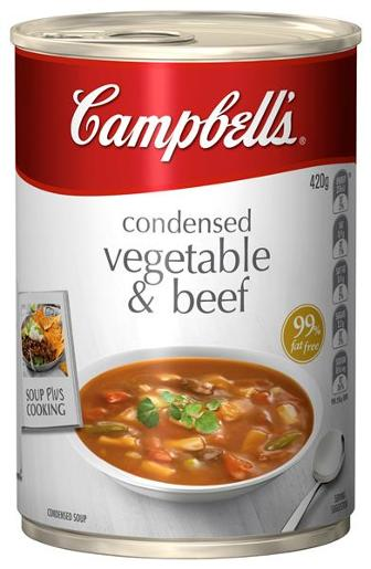 CONDENSED SOUP VEGETABLE BEEF 420GM