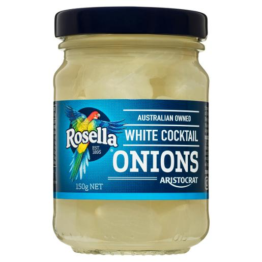 WHITE COCKTAIL ONIONS 150GM