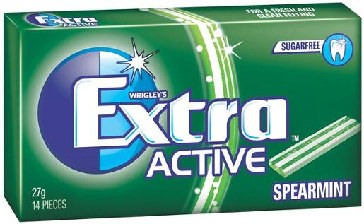 EXTRA ACTIVE SPEARMINT ENVELOPE PACK 27GM