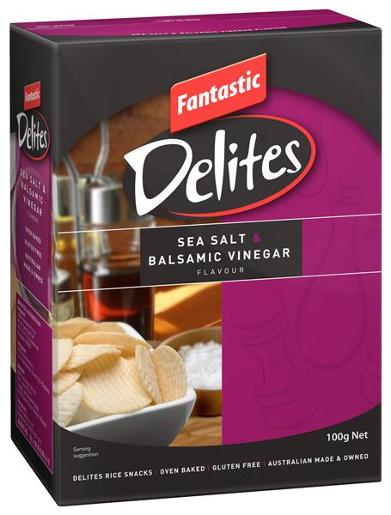 DELITES SEA SALT AND BALSAMIC VINEGAR 100GM