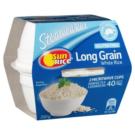 LONG GRAIN WHITE RICE 2 PACK 250GM