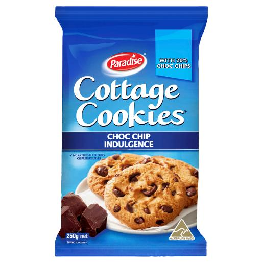 COTTAGE COOKIES CHOC CHIP INDULGENCE COOKIE 250G