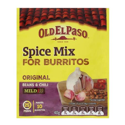 MILD BURRITO SPICE MIX 40GM