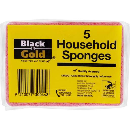 HOUSEHOLD SPONGES 5S