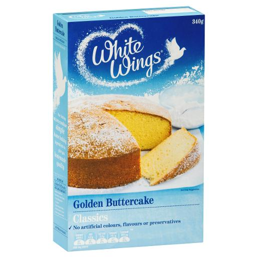 White Wings Classics Golden Buttercake Cake Mix 340gm