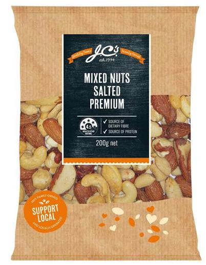 SALTED MIXED NUTS 200GM