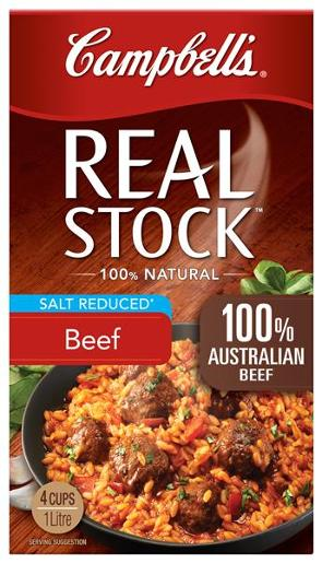 REAL STOCK BEEF SALT REDUCED 1L