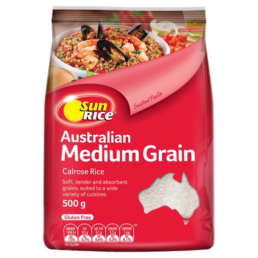 MEDIUM GRAIN WHITE RICE 500GM