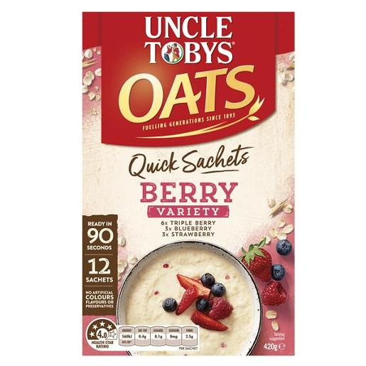 QUICK OATS BERRY VARIETY PACK BREAKFAST CEREAL 12PK